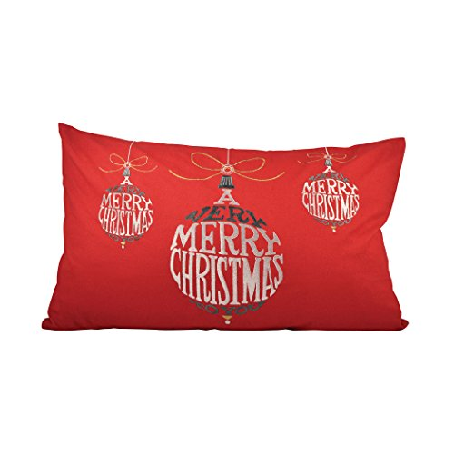 Traditional Décor Collection Very Merry Christmas 26x16 Lumbar Pillow by Ben&Jonah