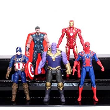 Superhero Avengers Iron Man Hulk Captain America Superman Batman Action Figures Gifts Collection of Children's Toys