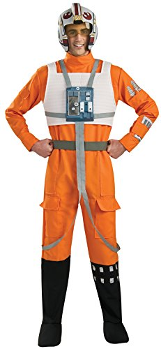 Star Wars X Wing Pilot (Rubie's Costume Star Wars A New Hope X-Wing Pilot, Orange, X-Large Costume)