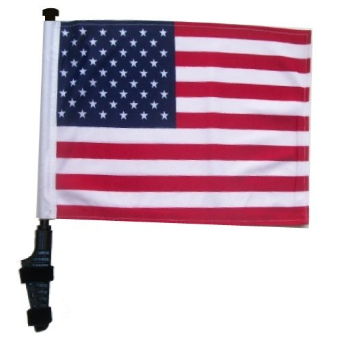 SSP Flags USA Golf Cart Flag with EZ On & Off Bracket - Golf Standard Golf Flag