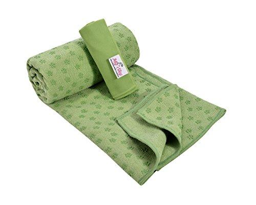 "Yoga Towel Non Slip MySky Absorbent 72""x24"" Microfiber Vinyasa Hot Yoga Bikram Mat Towel Hand Towel Set"