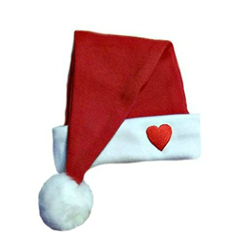 - Jacqui's Unisex Baby Santa Hat with Red Heart, Small Newborn