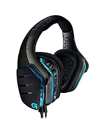 Logitech G933 Artemis Spectrum - Auriculares con micró fono para Gaming, Sonido Envolvente Profesional 7.1 y tecnologí a inalá mbrica de 2,4 GHz para PC, Xbox One y PS4, Blanco 981-000621