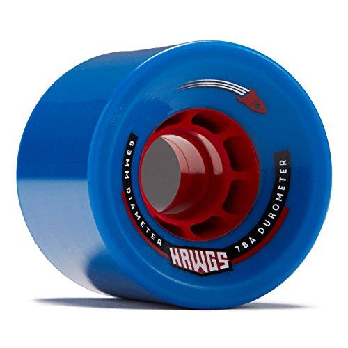 電球首尾一貫した皿Hawgs Rocket Longboard Wheels – 63 mm – 78 A – ブルー