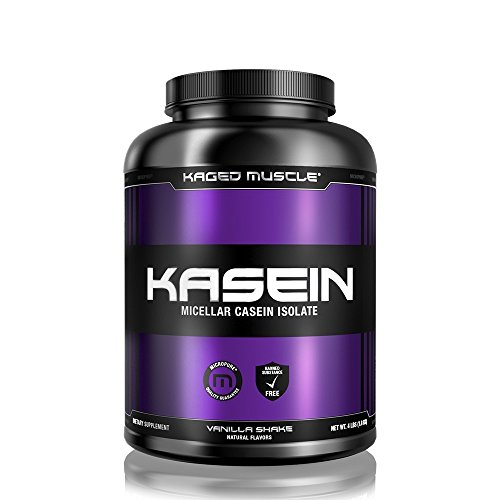KAGED Muscle KASEIN – Premium Protein Powder – Vanilla Shake, 4 lbs/1.8KG – 25G Cold-Processed Micellar Casein Isolate – Fight Catabolism + Boost Recovery + Build Muscle – Banned-Substance Free by Kaged Muscle