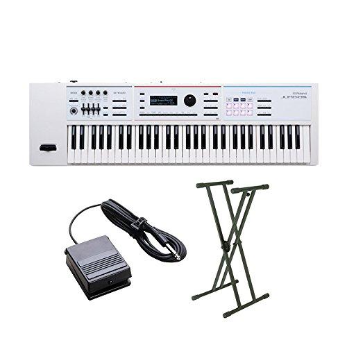 Roland JUNO-DS61W (ホワイト) シンセサイザー 61鍵盤 ベーシックセット (スタンド + ダンパーペダル) 初心者セット ローランド   B07CTG86QX