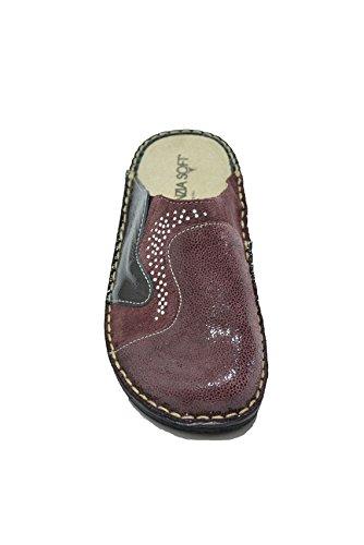 Cinzia Soft Ciabatte scarpe donna bordò plantare estraibile IM24088SD BORDO'