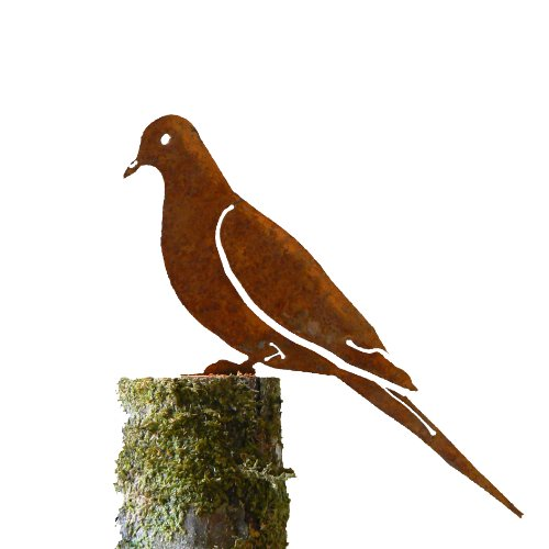 Mourning Dove Rusty Garden Sculpture