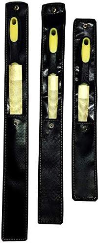 3 Piezas Moligh doll Juego de Archivos de Escofina de Madera Dorada Manejars de Agarre Manual de Lima de Madera de 6 8 y 10 Pulgadas para Madera de Metal Blando de Pl/áStico
