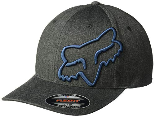 Racing Flex Fit Cap - Fox Men's Clouded Flexfit HAT, Black/Navy, L/XL