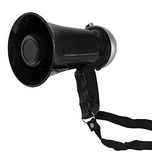 Fishtec  Mini 10W Megaphone with Loud Speaker, Siren and Adjustable...