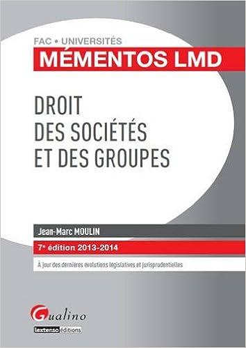 Livres Mémentos LMD - Droit des sociétés et des groupes pdf ebook