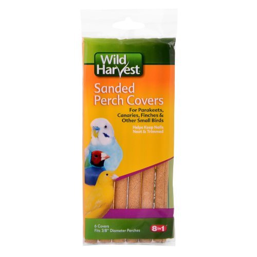Wild Harvest P-84141 Sanded Perch Covers for Small Birds, 6-Count by Wild (Bird Perch Cover)