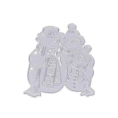 Aixia DIY Metal Snowman Family Cutting Dies Stencil Scrapbook Moulds Embossing Album