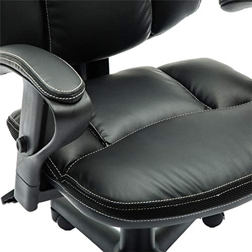 Irene House Comfortable Adult Teen's Swivel Adjustable PU Desk Chair,Ergonomic Mid-Back Student Computer Task Chair,Medium Adult's Home Office Chair(Black) by Irene House (Image #6)'