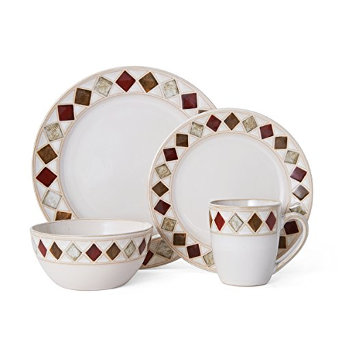 Pfaltzgraff Riviera Diamond 16-Piece Dinnerware Set, Service For 4