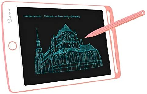 Goodao WP9308 8.5 inch LCD Writing Tablet High Brightness Handwriting Drawing Sketching Graffiti Scribble Doodle Board for Home Office Writing Drawing Pink Color : Pink