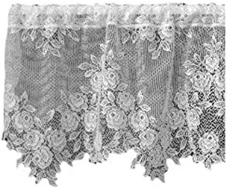 product image for Heritage Lace Tea Rose 60-Inch Wide by 17-Inch Drop Valance, White