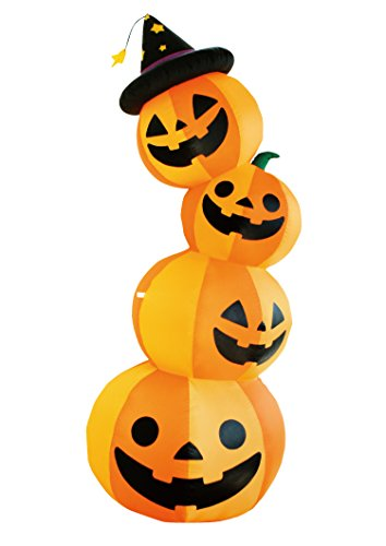 8 Ft Halloween Inflatable 4 Pumpkin Stack Decoration Lantern for Indoor Outdoor Home Yard (Inflatable Pumpkins)