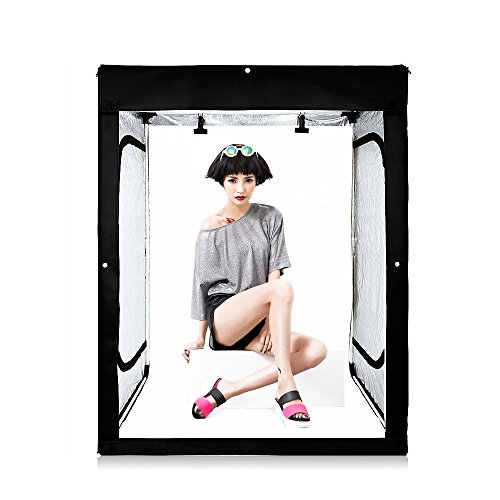 Professional Photography LED Lights Shooting Tent Cube Box Kit 47x39x79INCH Lighting Studio Shoot Softboxs with 3 Colors Backdrops by TRUMAGINE