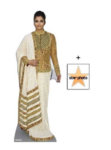 Fan Pack - Aishwarya Rai Bachchan Lifesize Cardboard Cutout / Standee - Includes 8X10 (25X20Cm) Star - Rai Picture