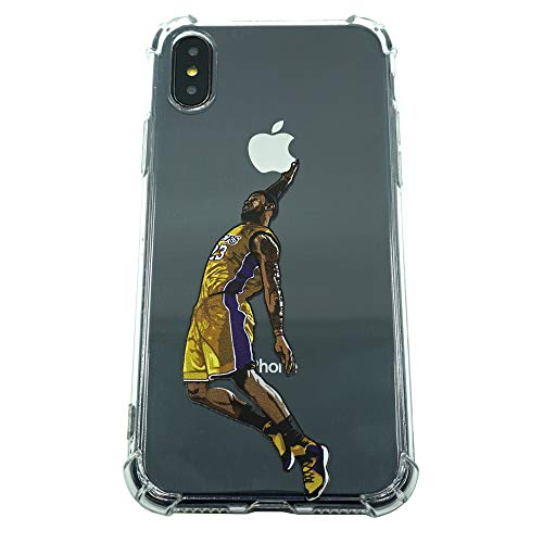 Basketball Stars Ultra Slim Crystal Clear Soft Transparent TPU Case Cover for Apple iPhone (LBJ, 7/8) ()