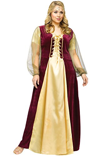 [Juliet Costume - Plus Size 2X - Dress Size 22-24] (Medieval Queen Plus Size Costumes)