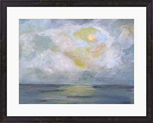 - Moonlight II by Molly Susan Strong Framed Art Print Wall Picture, Espresso Brown Frame, 28 x 23 inches