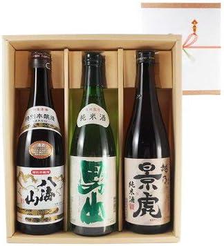 父の日 プレゼント ギフト 日本酒 飲み比べセット 「八海山」「根知男山」「越乃景虎」(純米・本醸造) 720ml3本