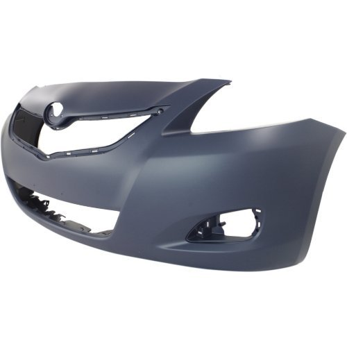 NEW FRONT BUMPER COVER PRIMED FITS 2007-2012 TOYOTA YARIS SEDAN 5211952934