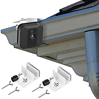 [Upgraded Version] Gutter Mount for Blink XT & Blink XT2 Outdoor Camera, Best Viewing Angle for Your Blink XT Camera, Weatherproof Aluminum Alloy Material (2 Pack, White)