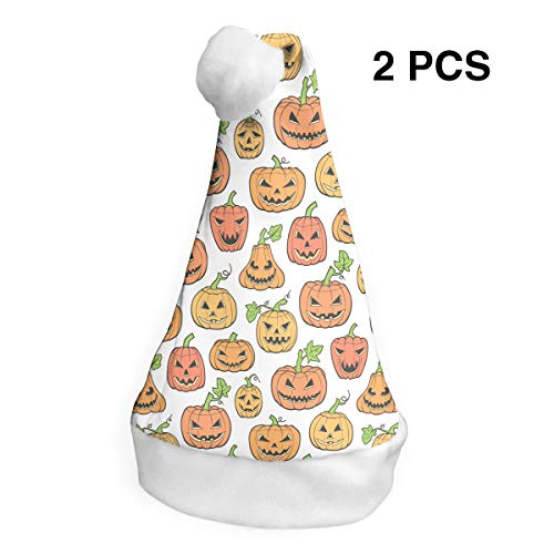 YISHOW Halloween Scary Pumpkin Classic Handmade Soft Christmas Hat and Santa Hats (2pcs) for $<!--$26.00-->