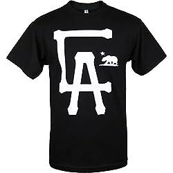 Black CA LA Los Angeles California Mens T Shirt S