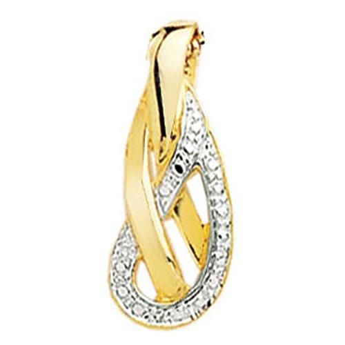 SF Bijoux - Pendentif or jaune 750/1000e et diamant (0,05 carat)