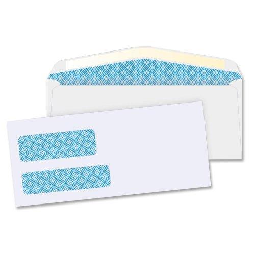 Wholesale CASE of 10 - Bus. Source No. 9 Double Window Envelopes-Double Window Envelopes,No. 9,3-7/8''x8-7/8'',500/BX,White