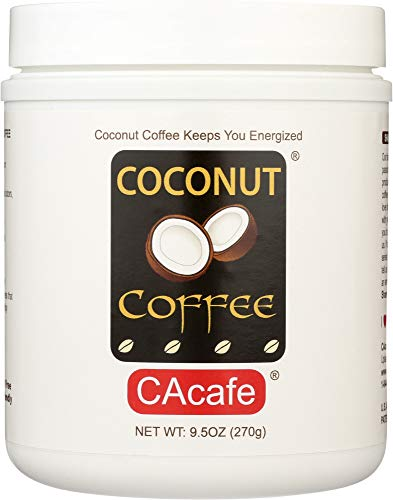 Coconut Coffee Drink Mix, Made from Real Coconut and Colombian Coffee, no Gluten and Trans Fat, all Natural, no Artificial Flavors, Colors, or Preservatives, 9.5 ounce, 9 Servings