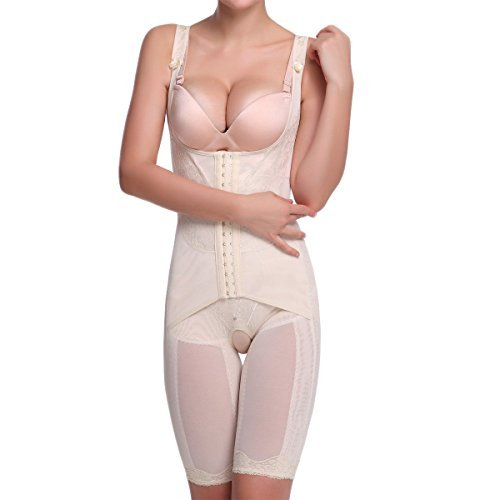Ieasysexy women full body shaper waist cincher thigh reducer bodysuit shapewear
