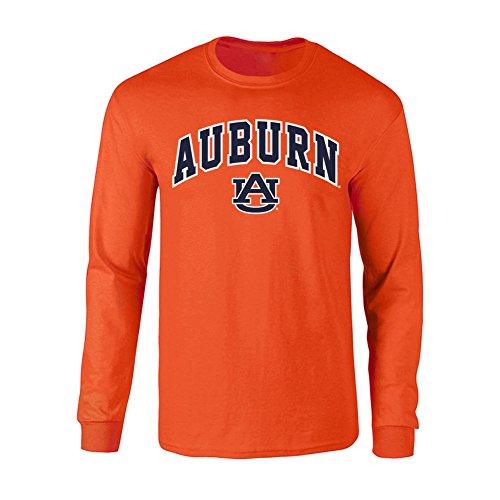 Elite Fan Shop Auburn Tigers Long Sleeve Tshirt Arch Orange - - Tigers Auburn University