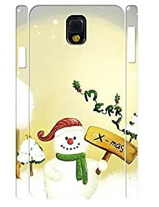 Cute Christmas Theme Handmade Cell Phone Back Case for Samsung Galaxy Note 3 N9005