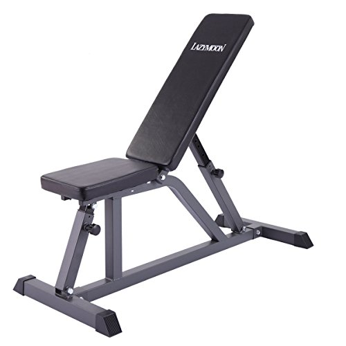 JAXPETY Adjustable Folding Sit Up AB Incline Abs Bench Flat Fly Weight Workout by JAXPETY
