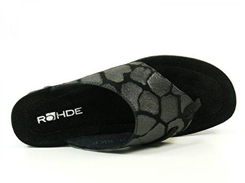 Emden Femme Rohde Tongs Noir 1337 8Hqn04x
