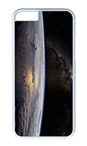 MOKSHOP Adorable Earth View Space Hard Case Protective Shell Cell Phone Cover For Apple Iphone 6 (4.7 Inch) - PC White