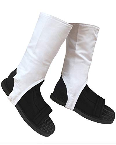 DAZCOS US Size Ninja Cosplay Shoes with White Outer Covers (Men US 11) -