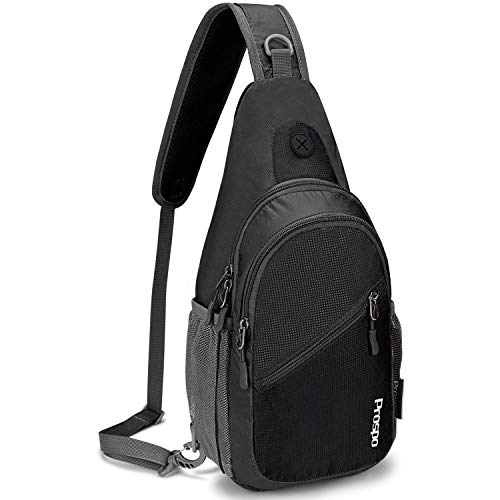 G4Free Prospo Sling Backpack, Multipurpose Small Shoulder Chest Bag Cross Body Daypack for Men & Women Outdoor Cycling Travel Hiking