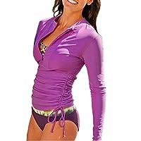 Camiseta de neopreno protectora de lycra con mangas largas con protección UV para mujer