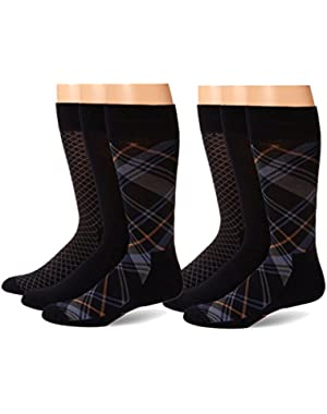 Men's Cushioned Dress Socks, 6 Pair