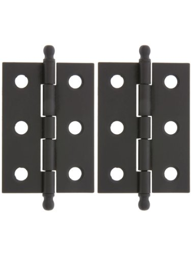 Pair of Loose Pin Plated Steel Cabinet Hinges - 2