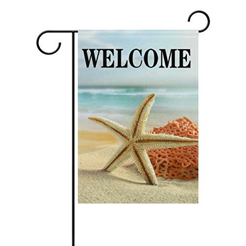 WXLIFE Summer Beach Theme Starfish Welcome Garden Flag 28 X