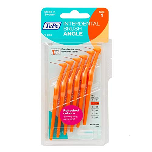 (Tepe Angle Interdental Brush (6 Brushes per Pack) - Orange 0.45mm)