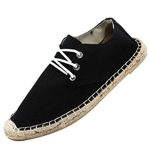 Chenyang Chaussure Unisex Espadrilles on Noir1 Slip Plateforme Impression À Lacets Surpiqûres Coutures Mode mN8n0w